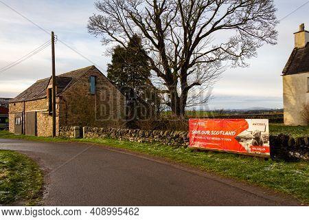 Castle Douglas, Scotland - 27th December 2020: Save Our Scotland, National Trust For Scotland Campai
