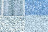 closeup of carpet selection repair decoration planning poster
