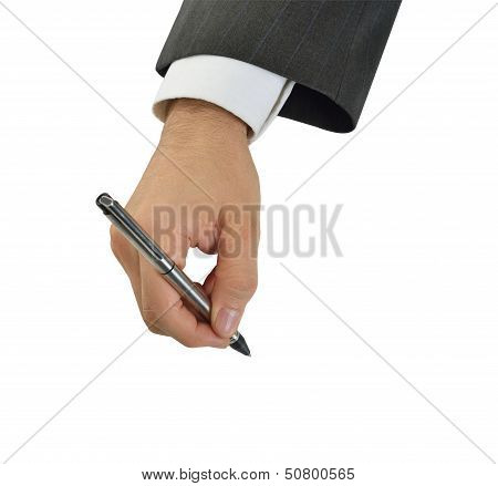 executive document ready to sign a contract at a meeting poster