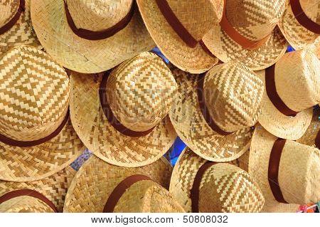 Many Wicker Hats