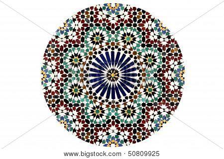 Arabesque Mosaic Circle isolated on white