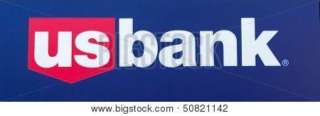 Sacramento, Usa - September 13: Us Bank Sign On September 13, 2013 In Sacramento, California.