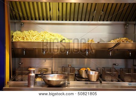 French Fries Stand.