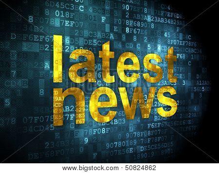 News concept: Latest News on digital background