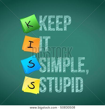 Keep It Simple Stupid Illustration Design