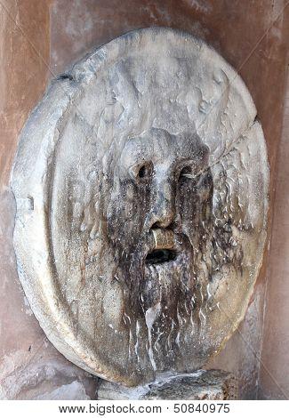 Famous Big Mask Called Bocca Della Verit�