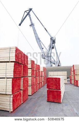 wood and crane