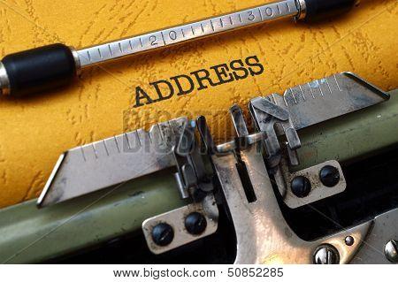 Address On Typewriter