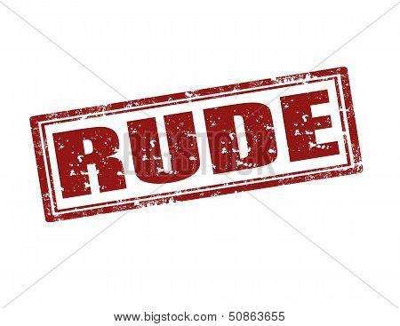 Rude-stamp
