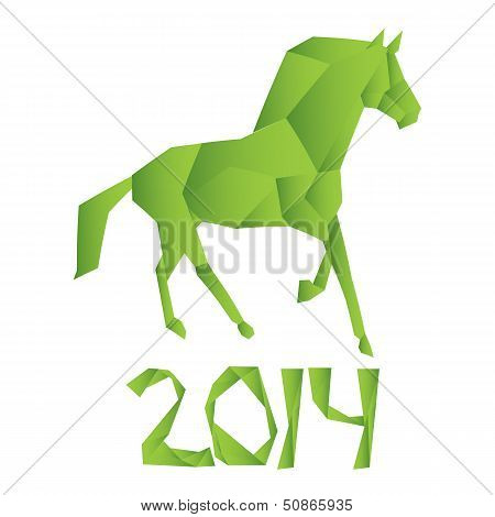 vector horse symbol of the new year