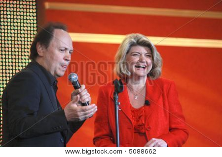 Billy Crystal At Ibm Conference Impact 2009 Together With Ibm Vice President Sandy Carter