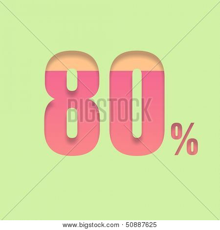 Eighty percent symbol