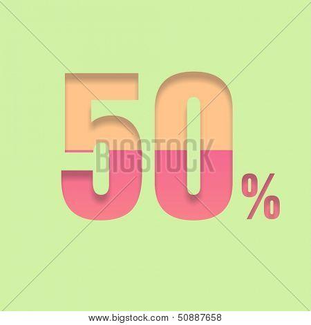 Fifty percent symbol