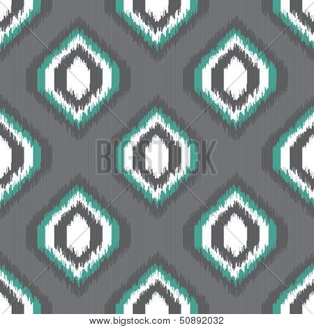 Geometric retro ikat tribal seamless pattern in indian style for web design or home decor