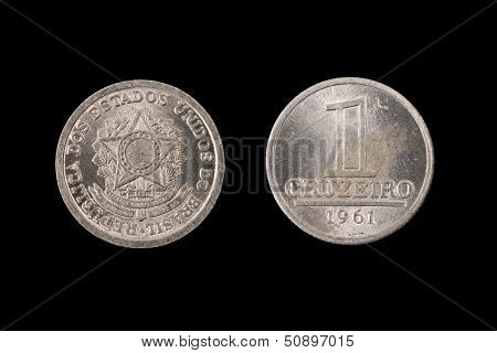 Old One Cruziero Coin From Brazil