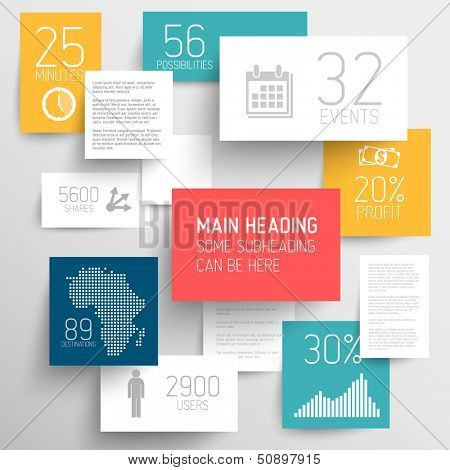 Vector abstract squares background illustration / infographic template with place for your content