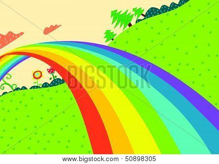 Rainbow Lanscape