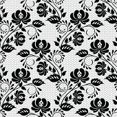 Seamless background with lace floral pattern. Vector illustration poster