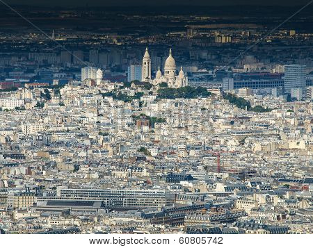 View Of Montmartre And Sacre Coeur