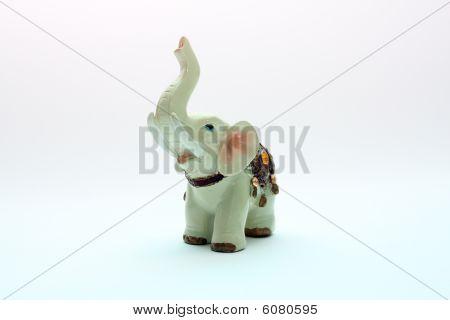 Porcelain figurine of an elephant
