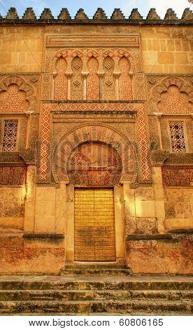 Door of the mosque in Cordoba