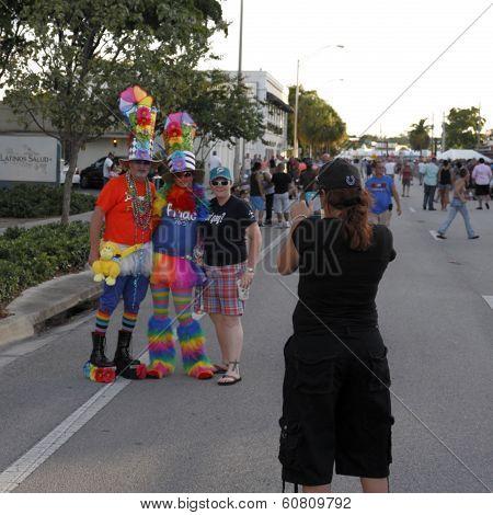 Costumed People Posing