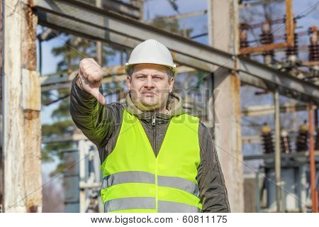Disgruntled Electrical Engineer in the electric substation
