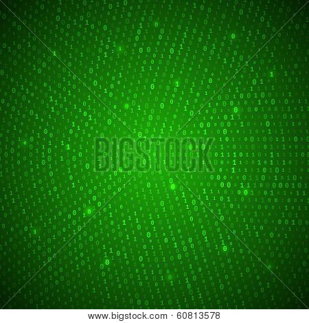 Abstract Green Binary Background