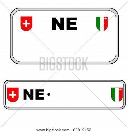 Neuchatel plate number, Switzerland