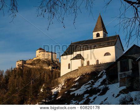 Tarasp Castle And Church