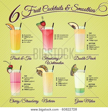Fresh Fruit Cocktails & Smoothies