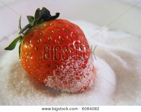 Erdbeeren Zucker