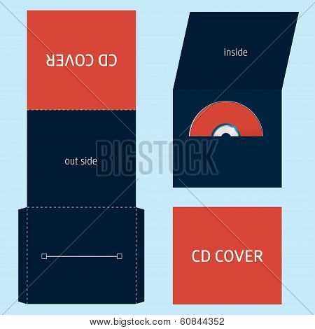 CD DVD BLU-RAY envelope template background vector poster