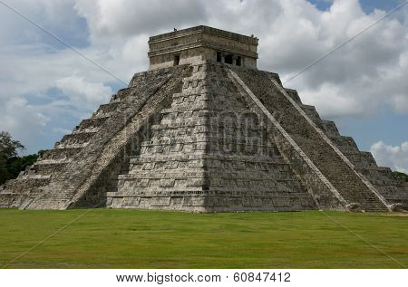 A People-less Shot Of Chichen Itza At Midday
