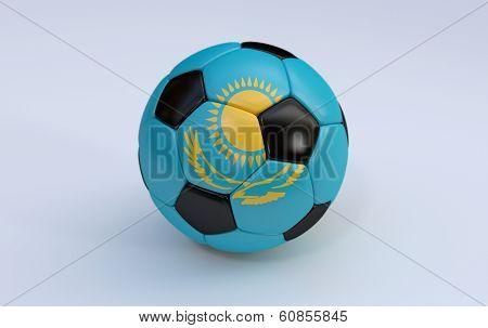 Soccer Ball With Flag Of Kazakhstan