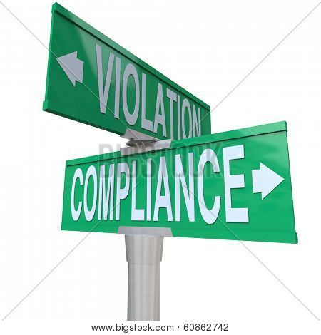 Compliance Violation Two Way Street Signs Direction Follow Rules