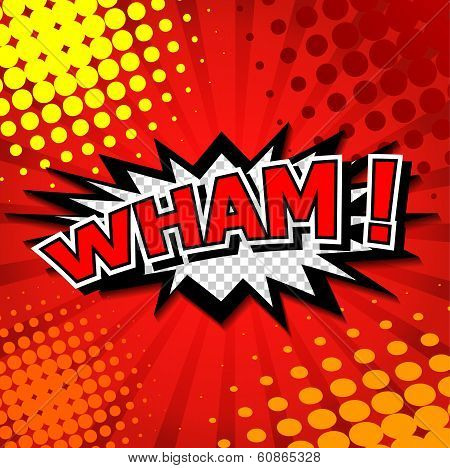 Wham! Comic Speech Bubble, Cartoon