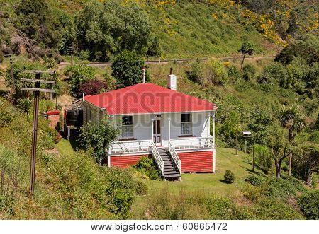 Railway Track Up Taieri Gorge New Zealand