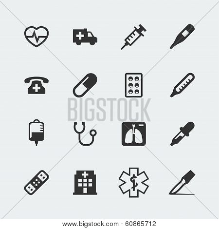 Vector Medical Mini Icons Set
