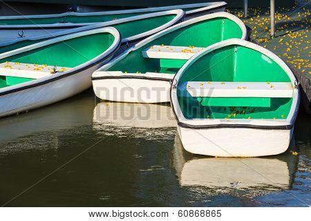 White Rowboats