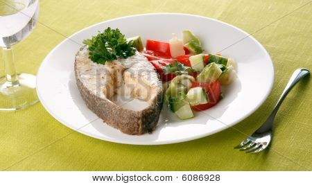 Fish with vegetables. image ready for your design work. poster