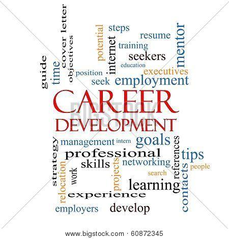 Career Development Word Cloud Concept