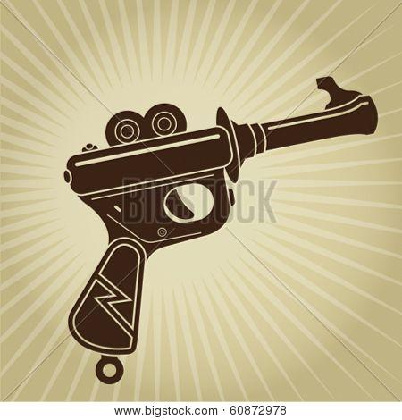 Vintage Space Gun Illustration