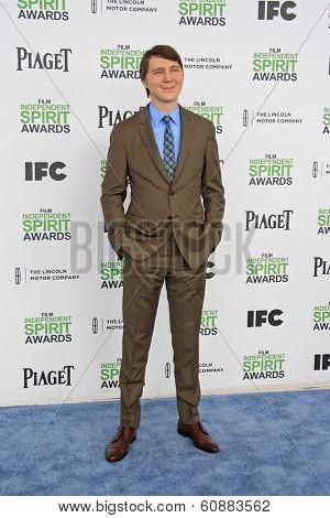 SANTA  MONICA - MAR 1: Paul Dano at the 2014 Film Independent Spirit Awards at Santa Monica Beach on March 1, 2014 in Santa Monica, California