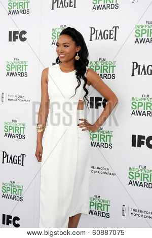 LOS ANGELES - MAR 1:  Judith Hill at the Film Independent Spirit Awards at Tent on the Beach on March 1, 2014 in Santa Monica, CA