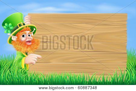Leprechaun Wood Sign
