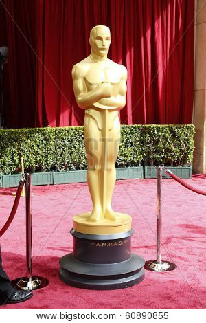 LOS ANGELES - MAR 2:  Oscar Statue at the 86th Academy Awards at Dolby Theater, Hollywood & Highland on March 2, 2014 in Los Angeles, CA