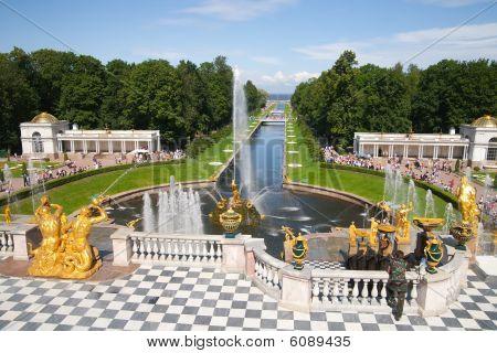 golden Fountains of Petergof Saint Petersburg Russia poster