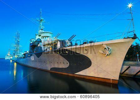 GDYNIA, POLAND - FEB 17: Polish destroyer