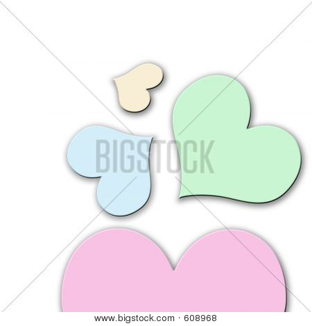 Pastle Colored Hearts